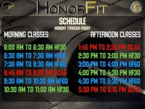Honorfit Hours